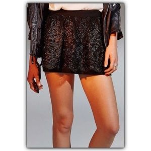 Kimchi Blue Black Lolly Lace Party Skirt